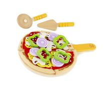 Hape Homemade Wooden Pizza Play Kitchen Food Set and