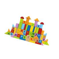 Hape Solid Beech Wood Stacking Blocks with Carrying Sack