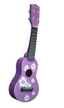 Hawaiian Theme Ukulele - Purple Uke Toy for Kids &