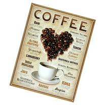 Heart Coffee Blends Tin Sign 13 x 16in