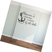 Heaven's a Little Closer in a Home by the Lake Wall Decal