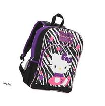 Hello Kitty Zebra Backpack - Black & Purple