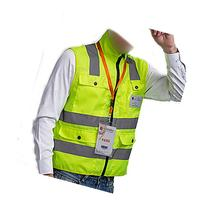 High Visibility Neon Green Zipper Front Breathable Safety