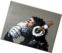 High-end Hand-painted Oil Painting 100% Hand-paiting-monkey