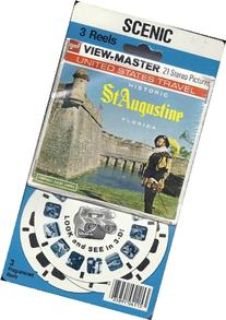 Historic St. Augustine Florida 3d View-Master 3 Reel Packet
