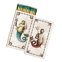 Homart Long Decorative Matches in Mermaid/Neptune Box, Set