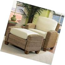Home Styles 5401-100 Cabana Banana Chair and Ottoman, Honey
