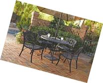 Home Styles 5554-308 Biscayne 5-Piece Outdoor Dining Set,