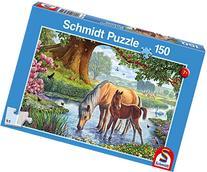 Schmidt Spiele Horses At the Creek Puzzle