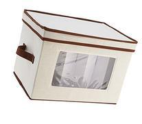 Household Essentials Flute-Style Stemware Storage Chest,