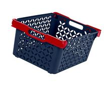 IRIS Boy's Medium Deep Decorative Basket, Blue