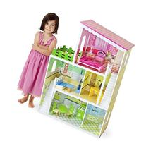 Wooden Wonders Living Large! Modern Dollhouse with 18 Pieces