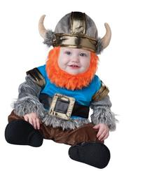 InCharacter Baby Boy's Viking Costume, Silver/Blue, Small