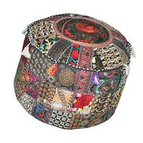 Indian Patchwork Pouf Cover Indian Living Room Pouf,