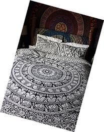 Traditional Indian Cotton 80x82 Inch Bohemian Doona Reversible Duvet Cover