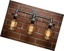 Industrial Lighting - Lighting - Mason Jar Light - Steampunk