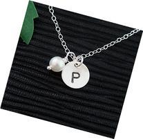 Initial Pendant Pearl Necklace / Customized Monogram