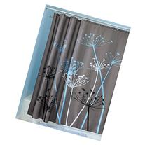 InterDesign Thistle Fabric Shower Curtain, 72 x 72-Inch,