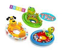 Intex See Me Sit Pool Rider Floats Frog, Dog & Racing Turtle