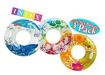 Intex Transparent Inflatable Tubes Tropical Designs Gift Set