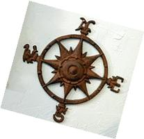 Iron Compass Rose Nautical Wall Plaque