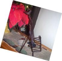 Iron Cookbook Stand ~ Book Holder Adorned with Bird
