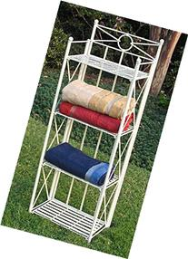 Iron Folding 4-Tier Indoor/Outdoor Bakers Rack