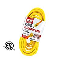 25 Foot Lighted Outdoor Extension Cord - 12/3 SJTW Heavy