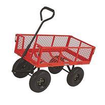 Ironton Steel Cart - 34in.L x 18in.W, 400-Lb. Capacity