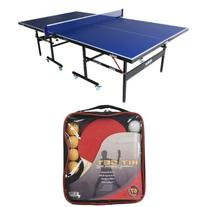 JOOLA USA INSIDE Table Tennis Table with Racket Set Bundle