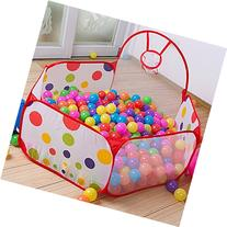 Jacone Extra Large Foldable Hexagon Polka Dot Ball Pit with