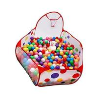 Jacone Large Foldable Hexagon Polka Dot Ball Pit with