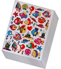 Jazzstick 300 Glitter Fish Scrapbook Decal Stickers Value