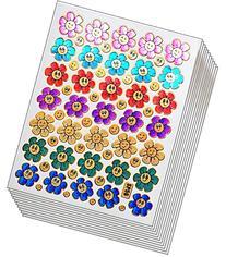 Jazzstick 350 Glitter Smiling Flower Decorative Sticker 10