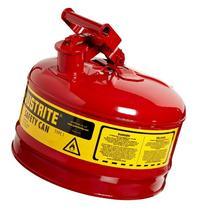 """Justrite 7125100 2 Gallon, 11.75"""" OD x 11.50"""" H Galvanized"""