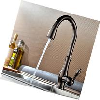 KES Brass Singel Lever High Arc Pull Down Kitchen Faucet