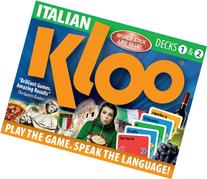 KLOO's Learn to Speak Italian Language Card Games Pack 1