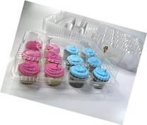 Katgely Dozen Cupcake Containers, Case of 100