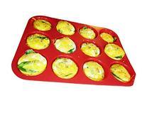 Keliwa 12 Cup Silicone Muffin - Cupcake Baking Pan / Non -