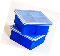Kelsey Adele King Cube Ice Tray with Lid - Premium Silicone