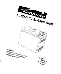 Kenmore Bread Machine Maker Instruction Manual & Recipes