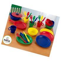 KidKraft 27 Piece Kitchen Dish Play set in Primary