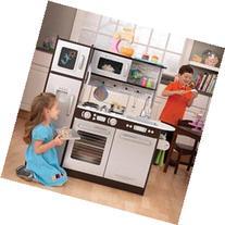 KidKraft Uptown Espresso Pretend Play Kids Wooden Kitchen w
