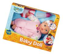 Kidoozie Snug and Hug Baby Doll - Includes Removable Diaper