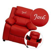 Flash Furniture Personalized Deluxe Heavily Padded Red Vinyl