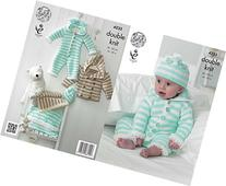 King Cole Cuddles DK Double Knitting Pattern Baby Clothes