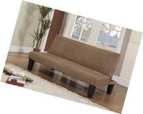 King's Brand Beige Fabric With Adjustable Back Klik Klak Sofa Futon Bed Sleeper