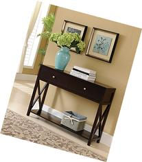 Kings Brand Cherry Finish Wood Entryway Console Sofa
