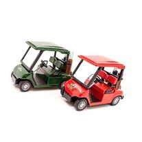 Kinsmart - Golf Cart  2 Assorted Colors Dark Green and Red
