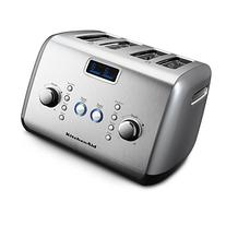 KitchenAid KMT423CU 4-Slice Toaster with One-Touch Lift/Lower and Digital Display - Contour Silver